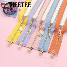 Meetee 5# 70-120cm Double Slider Metal Zipper Open-end Zip For Sewing Clothing Coat Jacket DIY Crafts Accessories AP543