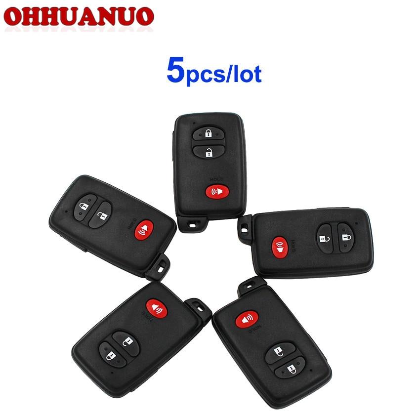 UTSAUTO Key Fob Shell 1 Pack Keyless Entry Remote Clicker HYQ12BAN HYQ12BBX 2+1 Button Fits Toyota Scion