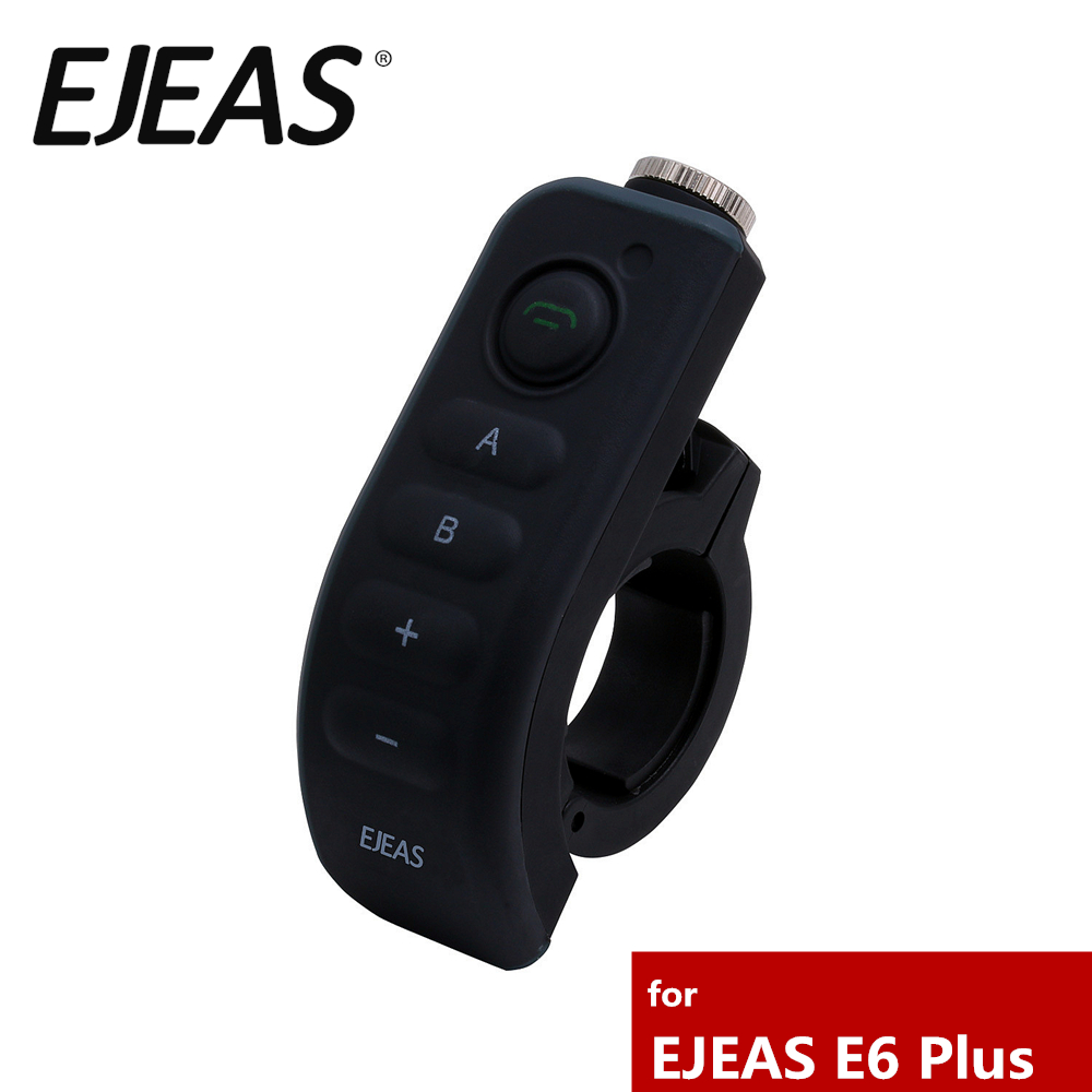 Official Accessories Motorcycle Handlebar Remote Control For EJEAS E6 Plus Helmet Intercom
