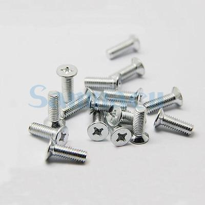 100Pcs M3*0.5*5-20 Phillips Flat Countersunk Head Screws Carbon Steel 25pcs 304 stainless steel countersunk head phillips screws phillips flat head screw m5 10