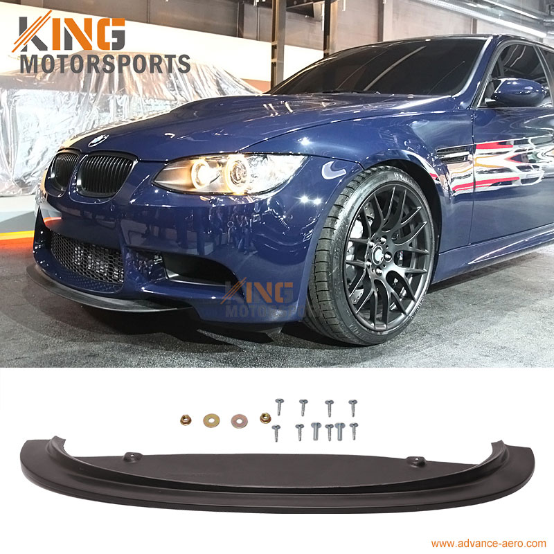 For 2008 2009 2010 2011 2012 2013 E90 E92 E93 M3 CRT Style Front Bumper Lip Spoiler - Poly-urethane PU