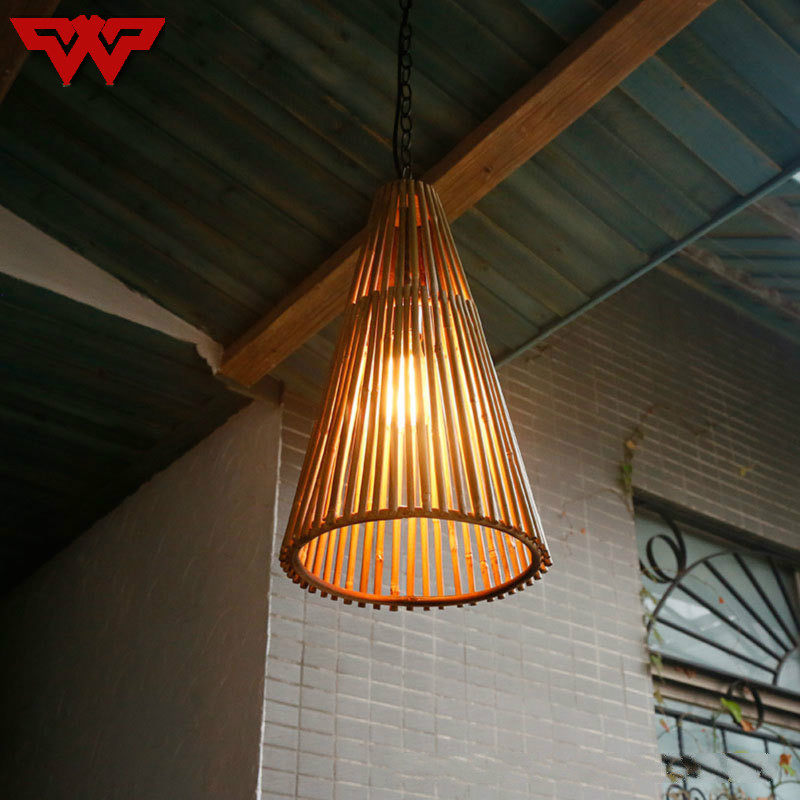 Southeast Asia bamboo chandelier teahouse hotel lights creative bamboo light dining hall lights retro nostalgic Chinese lamps