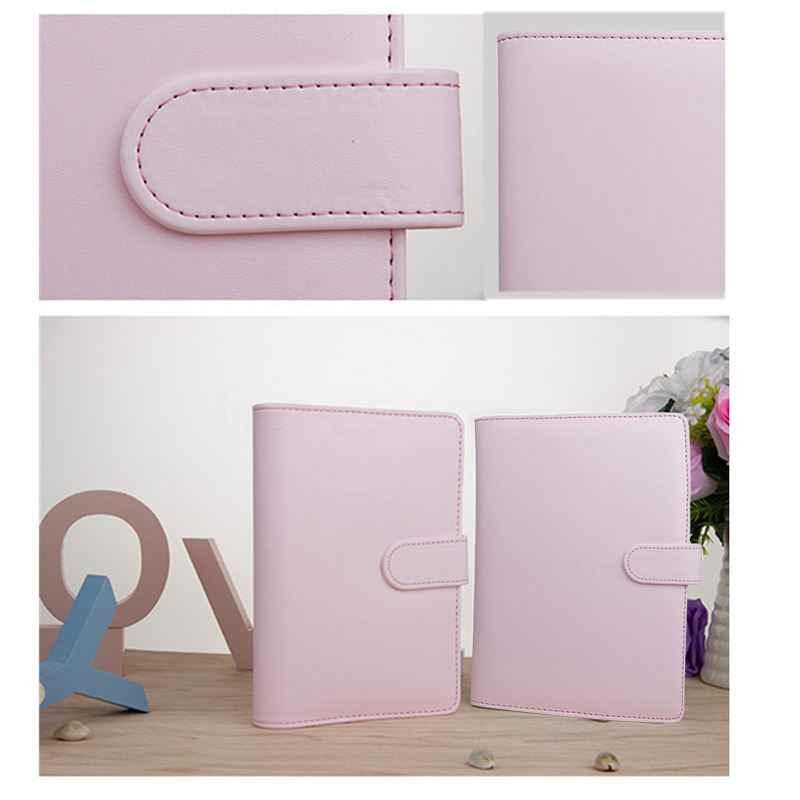 A5 毎週毎月プランナー日記クラシックルーズリーフリング-バインダーノートブックカバー、ピンク
