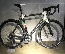 Белый черный велосипед Colnago C60, полный углеродный шоссейный велосипед с 105 R7000, групповой Набор 50 мм, углеродная колесная пара Novatec A271 втулки