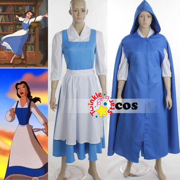 Halloween costumes for women adult Princess village Belle Beauty and the Beast cosplay costumes(shirt  sc 1 st  AliExpress.com & Halloween costumes for women adult Princess village Belle Beauty and ...