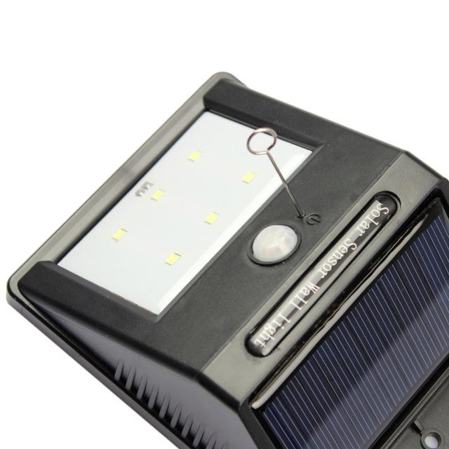GoesWell 1W 6 LEDs LED Solar Human Body Sensor Lighting Garden Wall Light Home Decoration Outdoor Waterproof Lights Yard Lamp