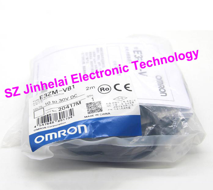 100% New and original  E3ZM-V81  OMRON  Photoelectric switch  10-30VDC   2M [zob] 100% new original omron omron photoelectric switch e3s vs1e4 e3zm v61 2m substitute