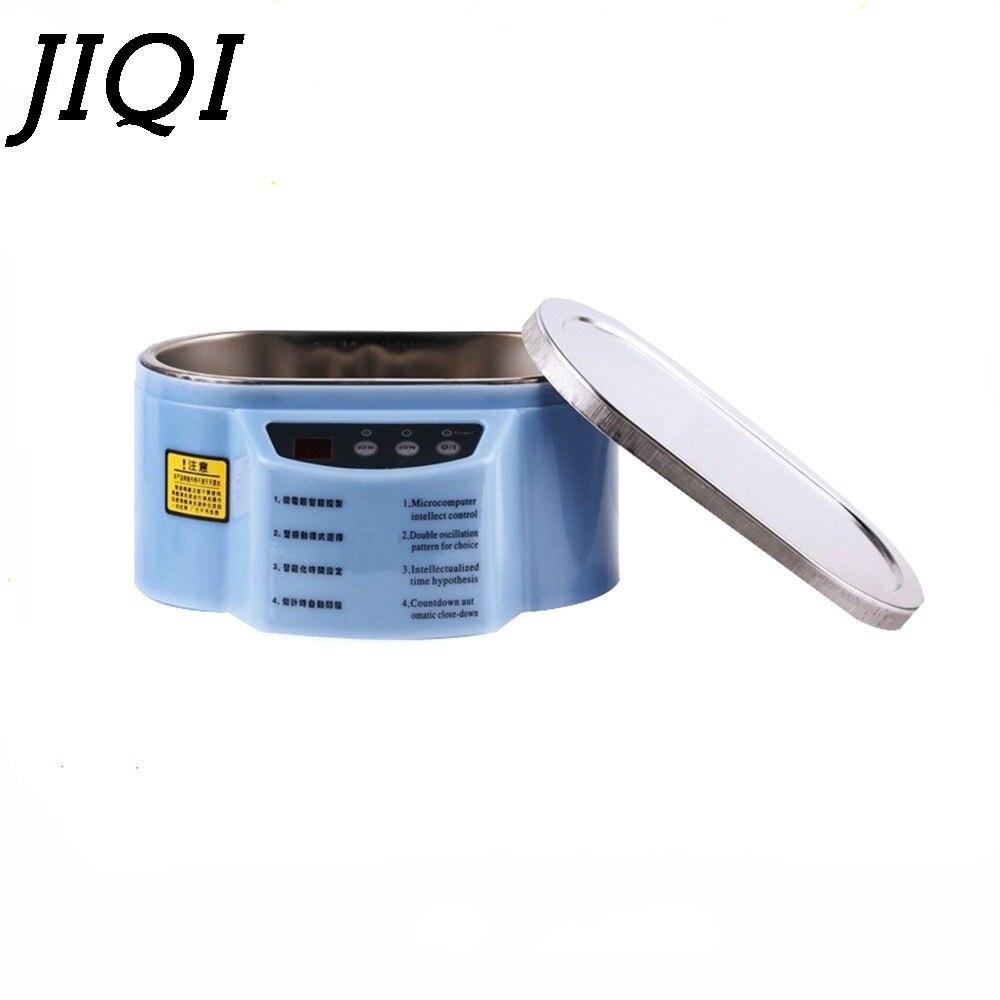 JIQI MINI Ultrasonic Cleaner Bath Dual Power Glasses Jewelry Circuit Board Denture Ultrasound Sonic Wave Cleaning Machine Washer