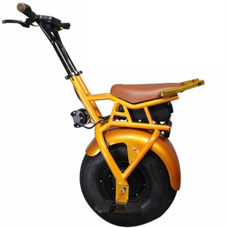 2018 nouveauté 18 pouces électrique gros pneu une roue monocycle 60 V 1000 W intelligent unique roue auto équilibrage moto électrique