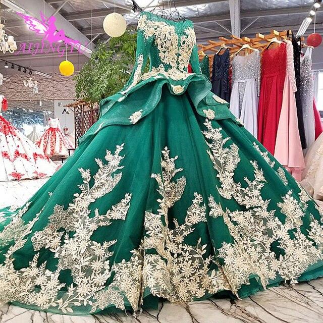AIJINGYU ガーデンウェディングドレス白ガウンプラスサイズイスラム教徒高級新 Dres ゴシックゴージャスなウェディングドレス価格