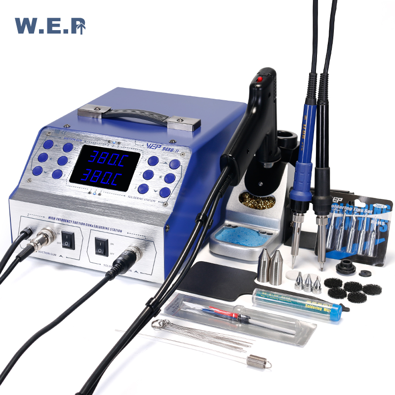 WEP 948D II High Frequency Rework Station Tin Gun Sodering Iron 3 in 1 Intelligent Desoldering