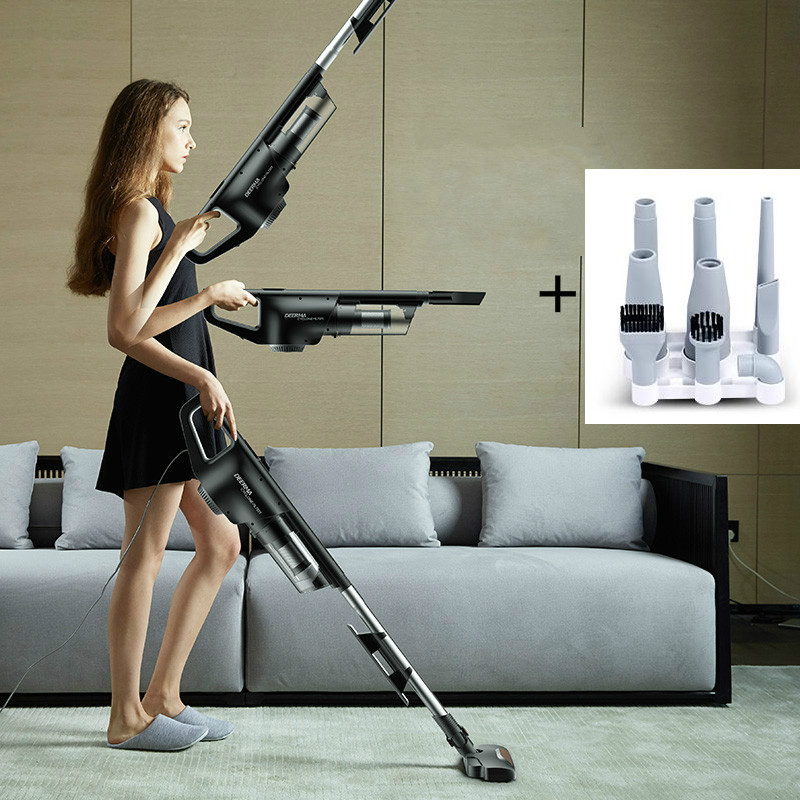 DEERMA Strong vacuum cleaner High Power Silent Handheld carpet vacuum cleaner jiqi vacuum cleaner household small strong divide mite handheld pusher dog and cat pet hair carpet suction machine