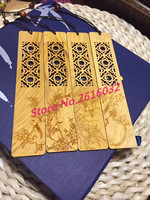 4PCS/LOT Wood engraving bookmarks birds flowers grass thin slices of wood, desktop Decoration home decorations ornaments.