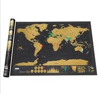 Scratch Bản Đồ Của Thế Giới Du Lịch Phiên Bản Deluxe World Map Poster Đen Du Lịch Scratch Off Map Personalized Tạp Chí Log Quà Tặng