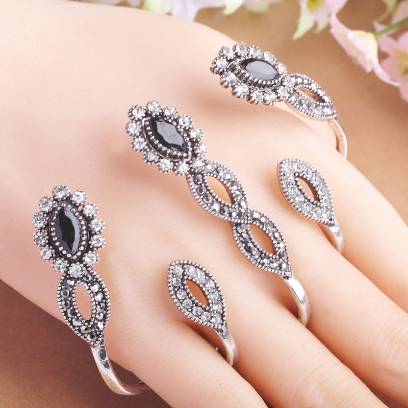 Latest Brand Design Turkish Rings Four Fingers Hand Accessories ...