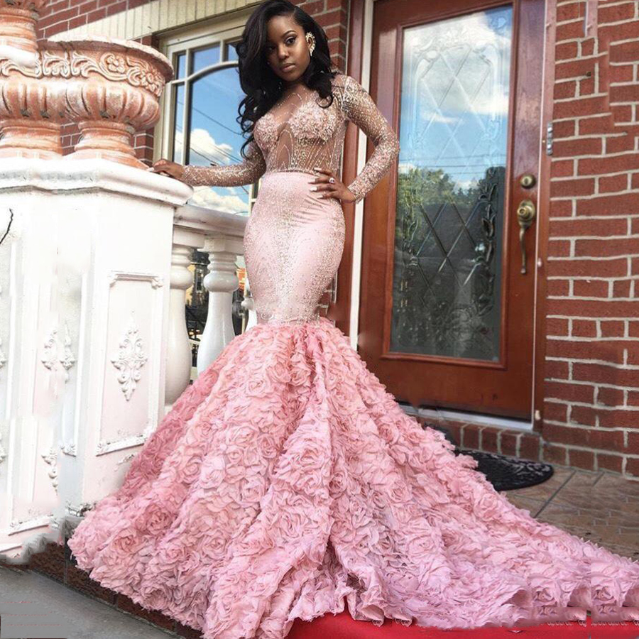 Aliexpresscom  Buy Pink sexy prom dresses mermaid floor