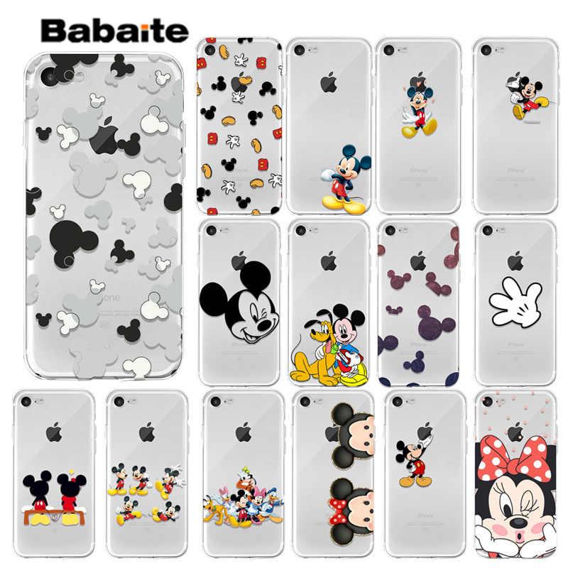 Babaite Микки Маус ТПУ прозрачный чехол для телефона чехол для iPhone 7 7 plus X XS MAX 6 6 S 8 8 Plus 5 5S XR