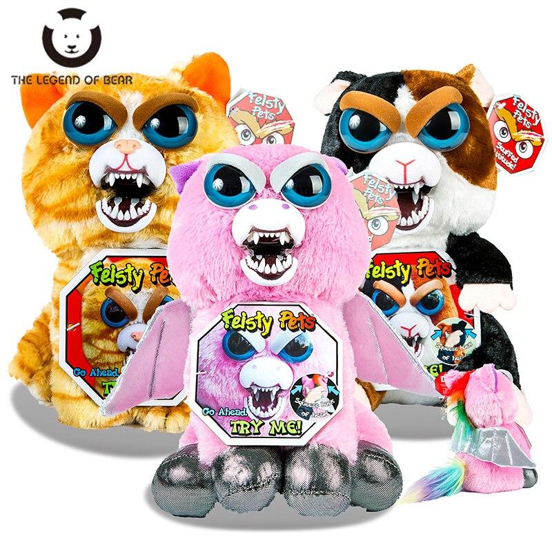 Divertido Feisty mascotas cambio cara relleno animales de peluche juguetes para niños regalos de navidad niños juguetes unicornio de peluche juguetes muñecas Anime