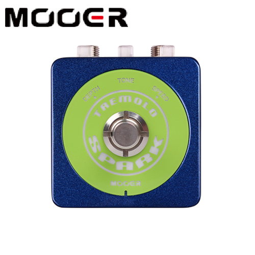 Mooer Spark Tremolo Classic Optical Tremolo Sound with a Wide Range of Speed and Depths Guitar Effect Pedal mooer yellow comp classic optical compressing sound with smooth attack and decay further more guitr pedal effect pedal