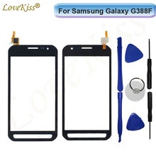 Дигитайзер сенсорной панели для Samsung Galaxy Xcover 3 G388F XCover3 G388, зеркальный сенсорный экран, сенсорный ЖК-дисплей, передняя стеклянная крышка