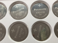 5pcs/lot Panasonic CR2412 CR 2412 3V Lithium Coin Battery watch Key Fobs Batteries For swatch LEXUS Car Controller