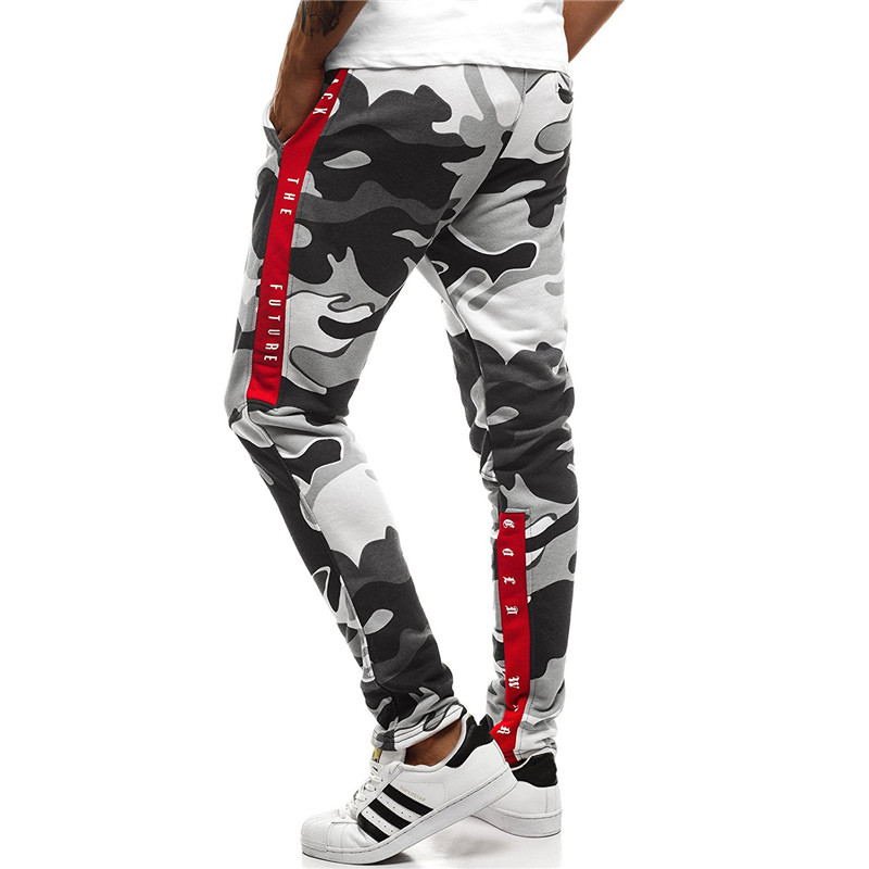 Harem Joggers Pants Men 2018 Hip Hop Fitness Padded Camouflage Print Male Trousers Solid Contrast Color Pants Sweatpants XXXL