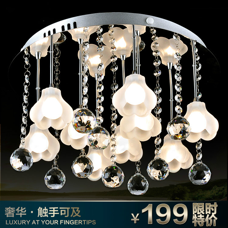 2017 Direct Selling Metal 9 No Abajur New Arrival Lamp Lighting Ceiling Light Brief Fashion Flower Crystal 560 Free Shipping