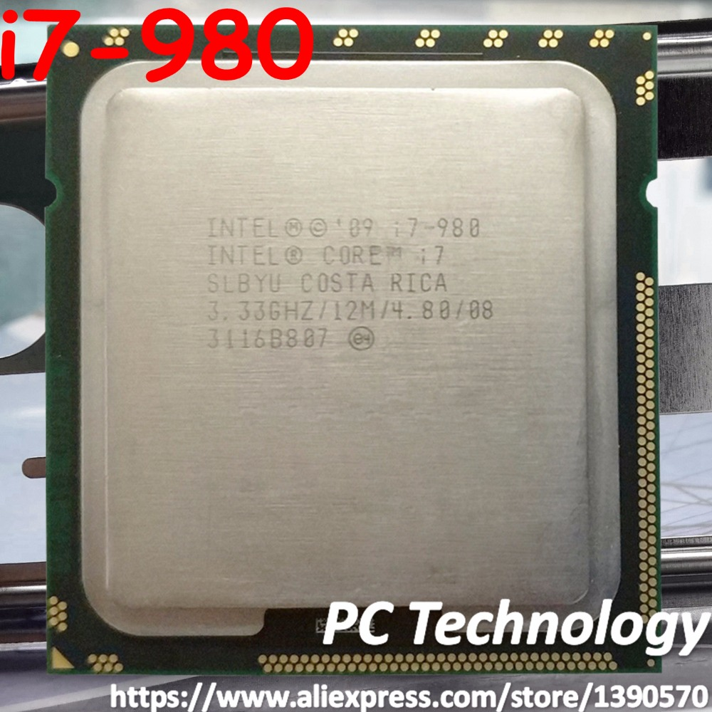 Original Intel Core i7 980 Processor i7 980 3.33GHZ 6 Core 12M Cache LGA1366 CPU 130W free shipping-in CPUs from Computer & Office