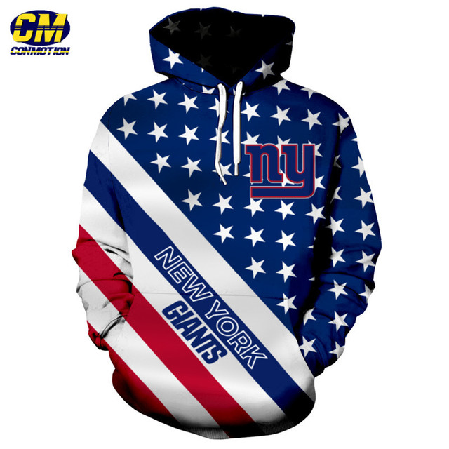 9546eb8592c American flag printed cool 3D hooded sweatshirt NFL pullover New York Giants  Dropshipping and Wholesale EU SIZE