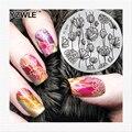 YZWLE Primavera Encanto Nail Art Sello Plantilla Placa de la Imagen Del Sello Del Clavo Placa de Estampación Placas Conjunto