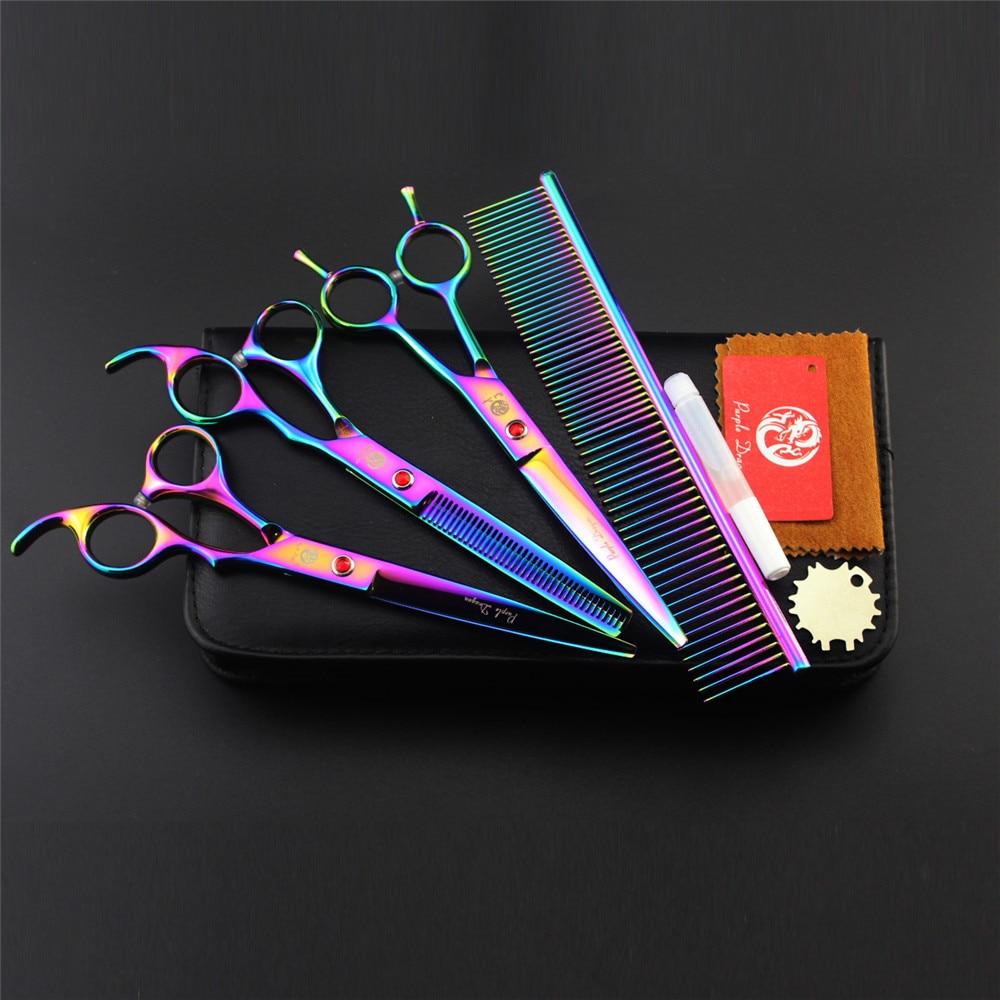 Professional Pet Scissors Set 7 Inch Hair Cutting Curved