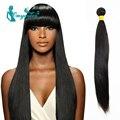 Rosa Grade 6A Brazilian Yaki Human hair 1pc Yaki Straight Hair Unprocessed Natural black color Light Yaki Virgin Hair Weaving