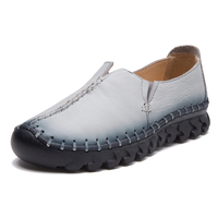NEW Brand High Quality Women Genuine Leather Shoes Slip On Flats Handmade Shoes Loafers Mocassin Flat
