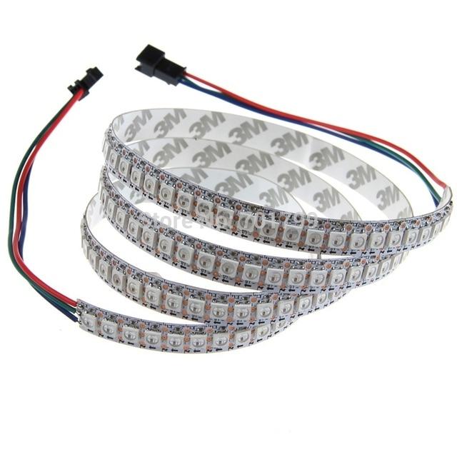 addressable 2m 144LEDs/m DC5V SK6812led pixel strip,non-waterproof,with 144pixels/M;WHITE PCB