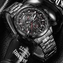 Кварцевые часы с календарем для экстремальных видов спорта, повседневные часы в стиле милитари из нержавеющей стали, мужские наручные часы 9325