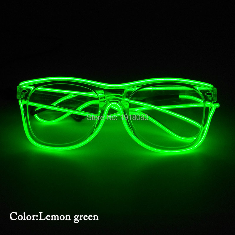 Glowing Product 5pieces EL Wire Glasses With DC-3V Steady On Driver Novelty Lighting Props Festival Glow Party Glasses