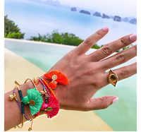 8 couleurs bohême gland charme Bracelets pour femme de mode couleur or argent manchette Bracelets & Bracelets Wrap bijoux