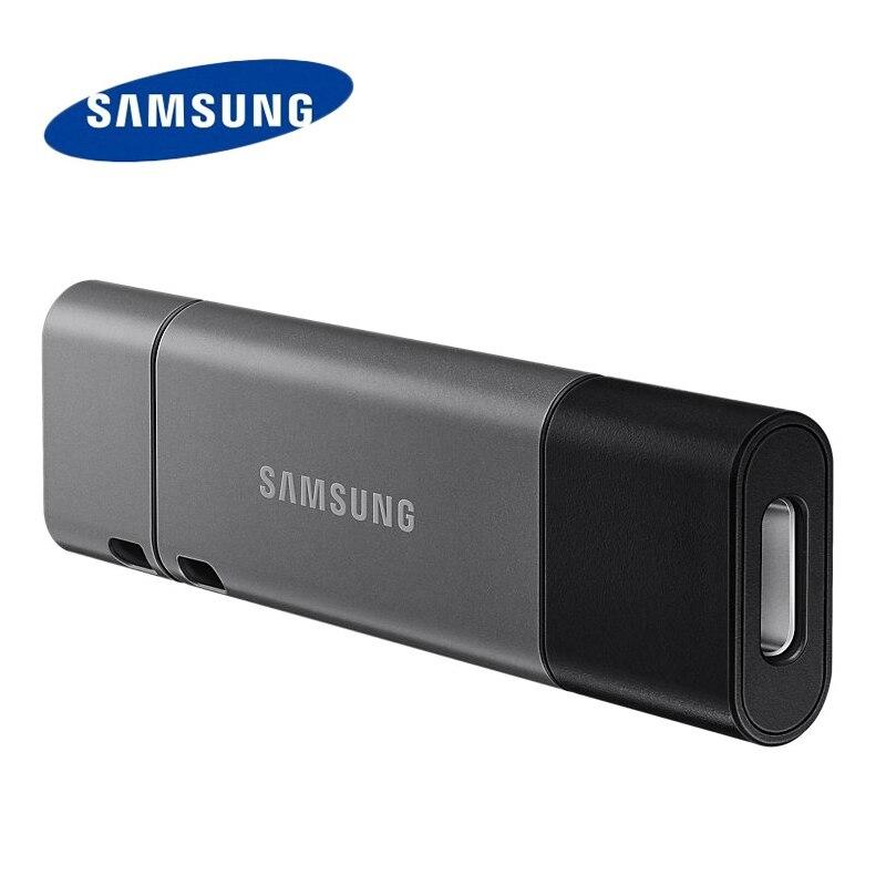 Disco do Dispositivo Usb3.1 da Pena do Porto do Metal da Movimentação 32g do Flash de Samsung tipo c u do Armazenamento da Vara da Memória Movimentação Dobro um 256gb 128gb 64gb