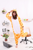 2017 Cartoon Adult Giraffe Pajamas Animal Onesies Flannel Children Pajama One Piece Cosplay Womens Onesie Garment