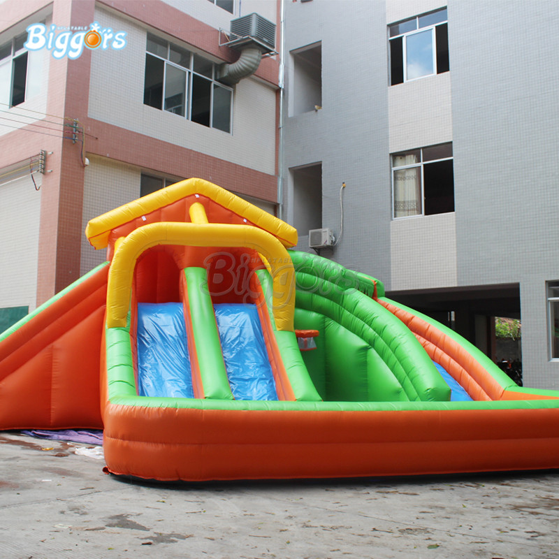 Inflatable water pool park slide inflatable water park with pool bears carton inflatable slide for water park ground pool