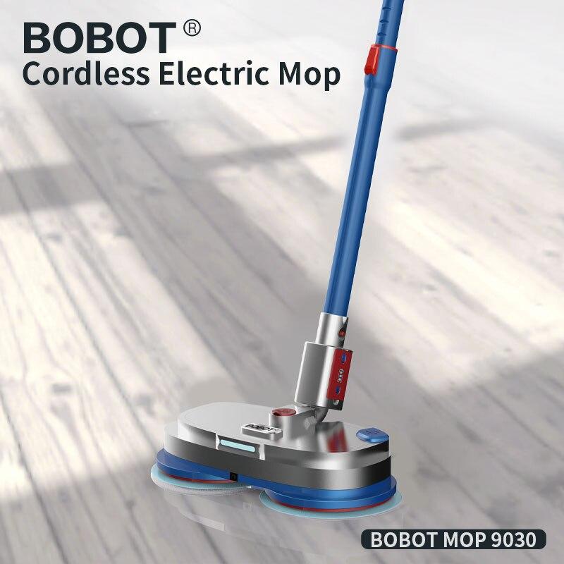 BOBOT MOP 9030 Cordless Elettrico a Pavimento Mop Spazzamento E Ceretta, A Spruzzo Elettrica Acqua Mop Spazzatrice