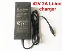 1 PCS 36 V 2A DC Li Ion battery charger Uscita 42 V 2A caricabatterie Utilizzato per 36 V 10 S 10AH 12AH 15AH 20AH Ebike batteria al litio di ricarica