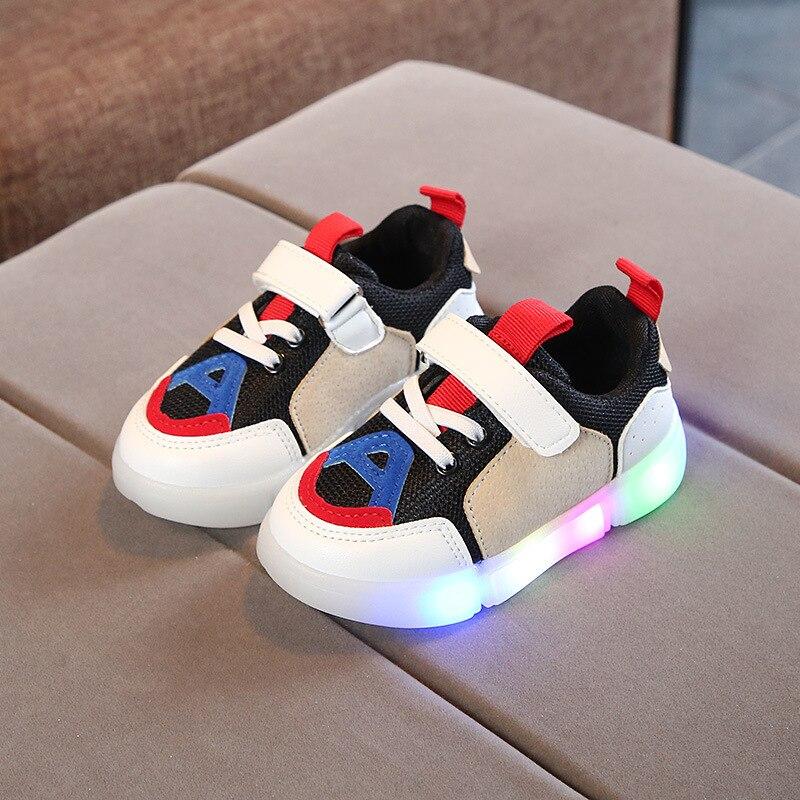 2018 LED blizgus zipas kūdikių merginos berniukai batai spalvinga - Kūdikių avalynė