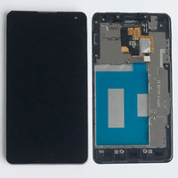 Black LCD Screen Display Toque Digitador Assembléia + Quadro Para LG Optimus G LS970 E975 E973