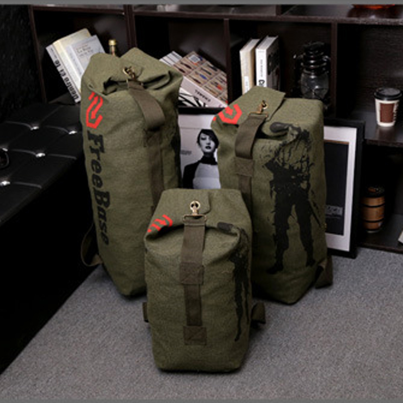 Canvas Portable Travel Luggage font b Backpack b font Army Outdoor Bag For Hiking Camping Men