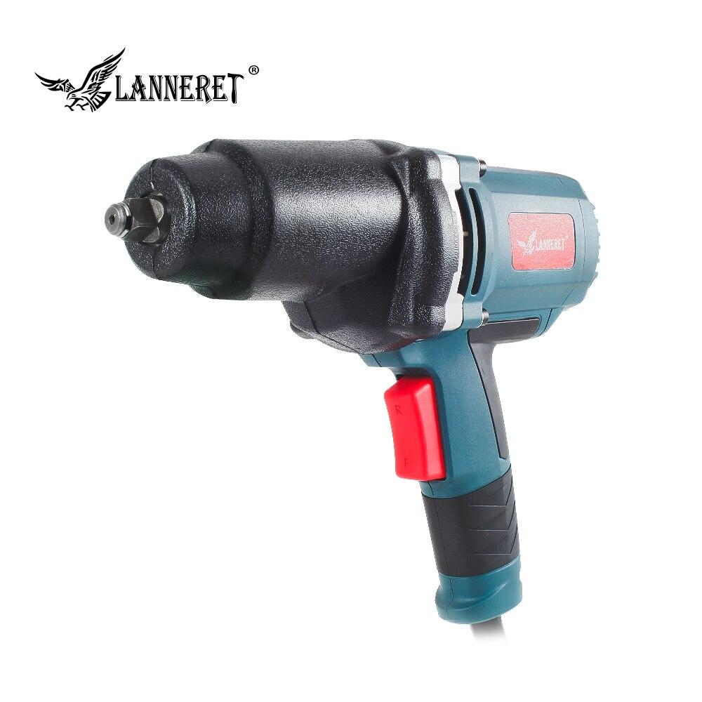 LANNERET 950 W Llave de impacto eléctrica 450-550Nm par máximo de 1/2 pulgadas del zócalo del coche hogar profesional llave cambiando neumáticos herramientas