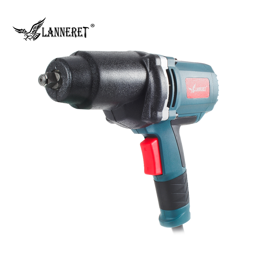 LANNERET 950W Electric Impact Wrench 450 550Nm Max Torque 1/2 inch Car Socket Household Professional Wrench Changing Tire Tools