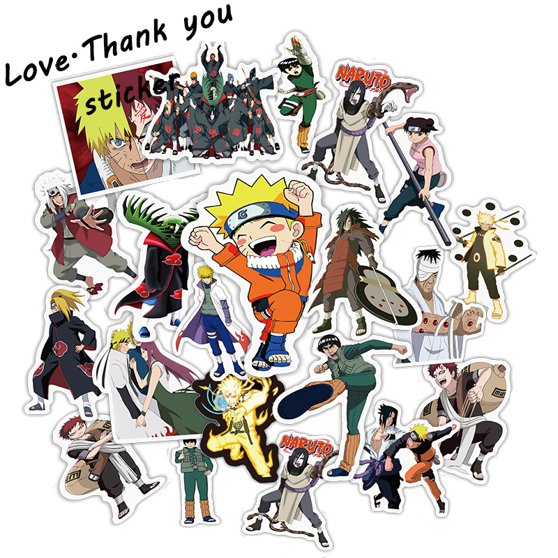 HOT 49 Pcs Japan Anime Cartoon Sticker For Laptop Luggage Car Skateboard Guitar Fridge Decal Toy