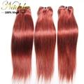 3 bundles lot brasileiro virgem cabelo liso mista comprimento do cabelo brasileiro weave bundles, 6A brasileiro reta tecer cabelo humano