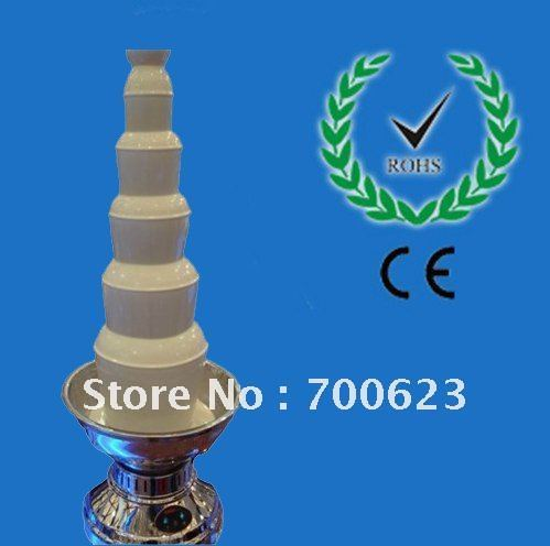 2016 highest end 6 Tiers 1000CM Stainless Steel Chocolate Fountain Free Shipping